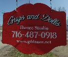 Guys and Dolls Dance Studio Sign